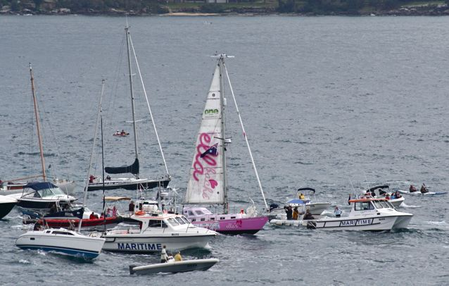 Ella's Pink Lady leaves Sydney